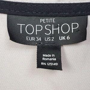 Topshop Pants - Topshop Petite Gray Shorts Romper Pockets 1 Pc